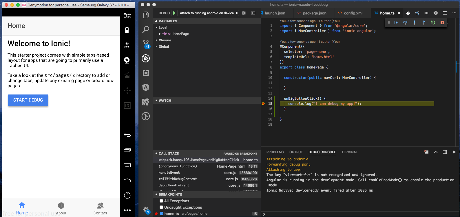 visual studio android emulator mac os